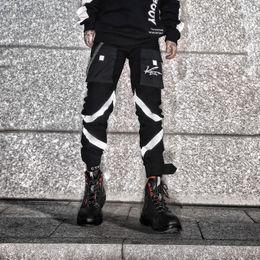 High street chain multi-bolsillo cosiendo pantalones pantalones hombres pantalones de chándal con cremallera hip hop Harem Pantalones de alta calidad desde fabricantes
