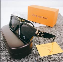 2019 gafas de playa reflectantes con caja Gafas de sol clásicas de lujo de alta calidad Marca de diseñador Hombres Mujeres Gafas de sol Gafas Lentes de vidrio de metal