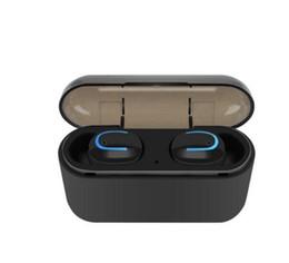 Mora auricolari online-Q32 TWS Bluetooth 5.0 Cuffie senza fili auricolari per telefono Vero stereo senza fili Cuffie Sport auricolari vivavoce HBQ-Q32