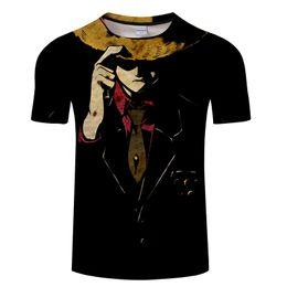 affe d luffy hemd Rabatt Sommer Neueste One Piece T-shirt Männer Affe D Ruffy 3D Print T-Shirts Schwarz Kurzarm Baumwolle Anime Zoro Ace Gesetz Hip Hop T-shirt