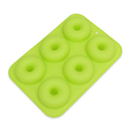 6-Cavity Donut Mold Silicone Donut Baking Pan Antiaderente Stampo per ciambelle Safe Baking Tray Maker for Cake Biscuit Bagels Muffins supplier biscuits maker da creatore di biscotti fornitori
