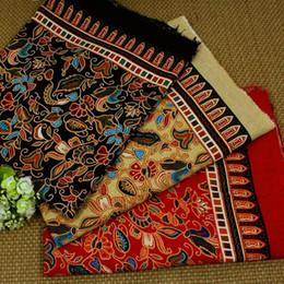 Tecido de linho com estampado floral on-line-tecidos de algodão e tecido de linho de pano étnica florais impressos para embarcações de vestuário cortinas toalha trabalho manual patckwork tecidos tela