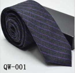 Canada Cravate pour homme 2019 NOUVELLE version coréenne, costume rayé à carreaux en coton atmosphérique ultra-étroit ressemblant à de la laine cheap striped wool tie Offre