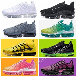 2019 TN Plus Sneaker Jogo Royal Orange EUA Tangerina Uva Menta Volt Hyper Violeta Dos Homens Das Mulheres Formadores Sports Designer Running Shoes Size36-45 supplier sports mints de Fornecedores de hortelã esportiva