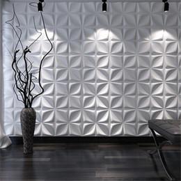 2019 arte de pared de plástico de mariposa 3D Arte Yeso geométrica de diamantes de talla de madera tallado del fondo etiqueta de la pared 3D Panel de pared decorativo Junta decoración de la casa