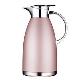 edelstahl wassertopf Rabatt Isolations-Topf-Edelstahl-thermische Kaffee-Karaffe 2.3L große Kapazität Wärmflasche walled Vakuum Thermos Kaffee Milch Teekanne