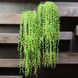5fork 82cm Artificiale carnosità Amante Lacrima Succulente Perle Carnosa Vite Fiore Appeso Rattan Parete Giardino Decor Piante Fiore da