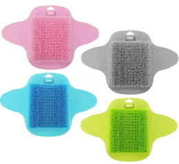 4 Colors Foot Bath Shower Brush Spa Washer Cleaner Scrubber Massager Foot Wear With Sucker Can Hang CCA10907 50pcs