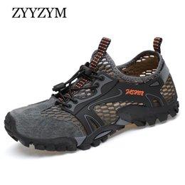 scarpe da ginnastica leggera adulti Sconti ZYYZYM Uomini Mesh Casual Scarpe Estate Adulto traspirante luce di qualità esterna Wadin Walking Men Shoes Fashion Sneakers