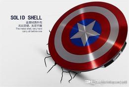 Capitão américa poder banco on-line-Power Bank 6800mAh Captain America poder banco duplo carregador USB para o telefone móvel inteligente 6800mah Universal portátil bateria