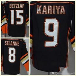 2018 New Arrivals Men s NHL Jersey  15 Getzlaf  9 Kariya  8 Selanne Black Hockey  Jerseys 100% Stitched Embroidery Logos Hot Sale 72a1f20e6