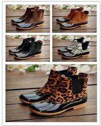 botines de cuña desnudos Rebajas 2019 Nueva Mujer botas de deslizamiento pato mujeres unisex tobillo de los zapatos de PVC adultos antideslizante impermeable y transpirable Casual días de lluvia necesaria