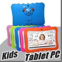"""2019 huawei carte unique 2018 DHL Enfants Marque Tablet PC 7"""" enfants Quad Core tablette Android 4.4 Allwinner A33 lecteur google wifi grand capot de protection du haut-parleur L-7PB"""