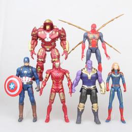 grands jouets avengers Promotion 6 Styles The Avengers jouets New Cartoon Super héros LED Action Figures 17 cm / 7 pouces PVC Cadeau Pour Enfants C6273