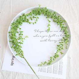 Perlen reben online-Künstliche hängende Perlen-Liebhaber-Tränen-Schnur der Liebhaber-Tränen-grüne Wand-hängende Rebe-Ausgangsgirlande-Sukkulenten-Dekoration