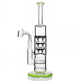 Прямые пробки 14 мм онлайн-Big Glass Bong Recycler Нефтяные вышки Водяные бонги Прямая трубка Bong Sovereignty Стеклянные водопроводные трубы с 14 мм Banger 10,4 дюйма