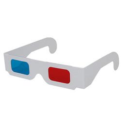 Canada 10 paires de lunettes 3D en carton rouge / cyan Offre