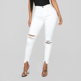 pantalones negros de talla grande Rebajas Pantalones de mezclilla pantalones vaqueros femeninos, cintura alta, verano, pantalones vaqueros de las mujeres Bolsillos femeninos Wash Denim blanco para mujer vaqueros mujer # G6