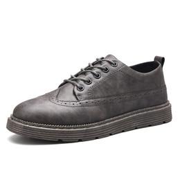 Autunno Scarpe da uomo British Brock Society Cuoio piccolo Scarpe per il tempo libero Adolescenti Cento set di Retro Student Tide Leather da scarpe brock fornitori