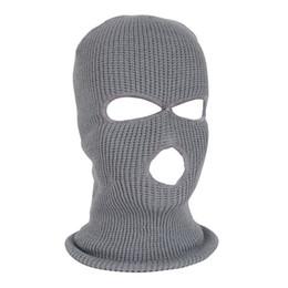 Masque facial course de ski en Ligne-Hiver bonnet chaud épaissir ski masque complet chapeau bonnet coupe-vent bonnet écharpe Bonnets extérieur vélo de course masque de ski # L4