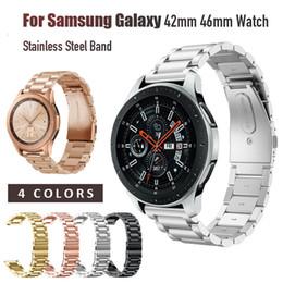 84f41450a7aa7 Correa de acero inoxidable de lujo para Samsung Galaxy Watch 42mm 46mm Banda  20mm 22mm Ancho Banda de reloj universal Pulsera de metal