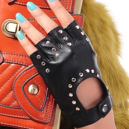 Модные перчатки без пальцев женщин онлайн-Long Keeper 2017 Fashion Half Finger Gloves Men Faux Leather Mittens Fingerless Tactical Gloves Men Women Driving Guantes G221