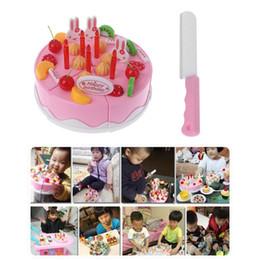 Couper des jouets semblant en Ligne-En gros faire semblant de coupe gâteau d'anniversaire de fruits bougie couteau filles fairy party cuisine nourriture jouets set enfants cadeau