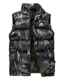 2019 colete colorido Fan colorido colete de algodão Outono / Inverno jaqueta dos homens para baixo coletes de algodão colete homens casuais quentes coletes de grande porte colete colorido barato