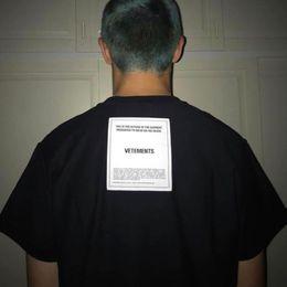 Vetements Aplike Tee Büyük Boy tişört Gradient Nakış Moda Casual tişört Streetwear Hip-hop Yaz Erkekler Kadınlar Gevşek Tee HFTTTX117 nereden thailand tişört erkek tedarikçiler