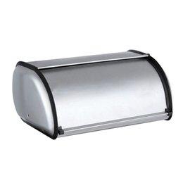 2019 burgunder geschenk taschen Edelstahl Durable Einfache Brot-Kasten Breadbox Aufbewahrungsbox für Hotel Store Startseite Spiegel-Material Brot Aufbewahrungsbox 1Pcs