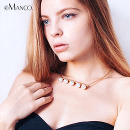 2019 bijoux emanco eManco Trendy Simple Collier Couples Collier pour Femmes Filles Simulé Perles En Métal Style Collier De Mode Bijoux bijoux emanco pas cher
