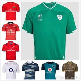2019 rugby de auckland De primera calidad 19 20 jerseys de rugby irlandés Irlanda Copa del Mundo de Rugby hogar lejos formación jersey de la camisa del juego del POLO de S-3XL