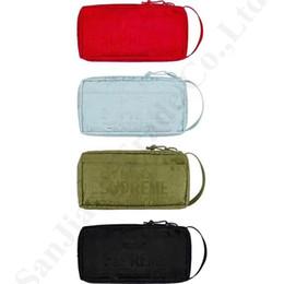 Bolsos monedero organizador online-Luxury Supre 19SS 46th Handbag Clutch bag Mujeres Cosmética Maquillaje Bolsas Bolsa Sup Phone Bolsas Travel Wallet Organizer Holder Coin Purse C82706