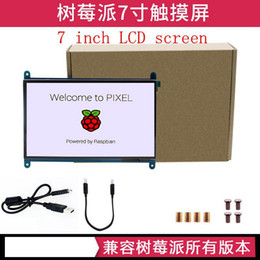 raspberry pi lcd touch screen Promo Codes - 7 inch Raspberry Pi 3 Model B+ LCD Display Touch Screen LCD 1024 600 800 480 HDMI TFT Monitor Holder Case for Raspberry Pi 3
