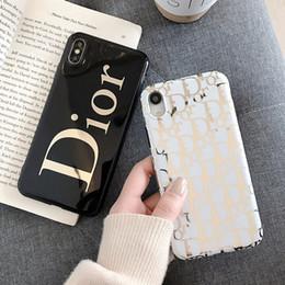 Étui plaqué or pour iphone en Ligne-En gros designer de luxe cas de téléphone de placage d'or pour iphone xs max 6 7 8 plus haute qualité couverture de téléphone portable stunk drop shipping
