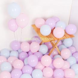 decorações de balão de doces Desconto 200 pcs Macaron Doces Coloridos Balões Pastel Balão De Látex Festival de Aniversário Fontes Do Partido Do Evento Decoração Do Quarto Do Casamento de 10 Polegada