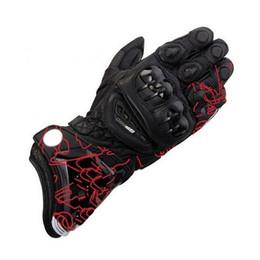 Motocicleta de pintura de carreras online-estilo caliente guantes de moto GP PRO KTM 4 protección de guantes de carreras de motos de la motocicleta de cuero superior pintada