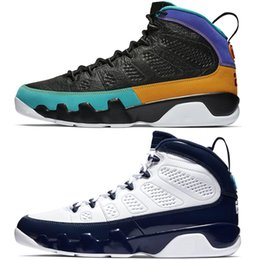 6d054381df51d0 Men 9 Basketball Shoes 9s UNC Navy Blue Dream It Do It Bred LA Oreo Tour  Yellow Mens Trainer Sports Sneaker Size 8-13