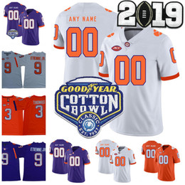 Argentina NCAA Clemson Tigers 16 Trevor Lawrence 4 Deshaun Watson 2 Kelly Bryant 9 Travis Etienne Jr. 13 Camisetas de fútbol de Hunter Renfrow College cheap clemson jerseys Suministro