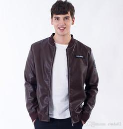 Fashion Style Mans Pu Lederjacke Motorrad Windbreaker Rundhalsausschnitt Außenmantel The Jacker For Man von Fabrikanten