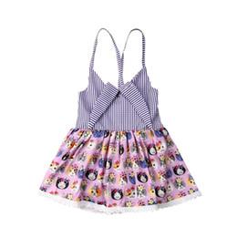 novas meninas moda vestidos Desconto Recém-nascidos Infantil Do Bebê Caçoa As Meninas Bonito Gato Vestido de Impressão New Fashionable Festa Pageant Tutu Lace Borda Vestido Outfits Casuais