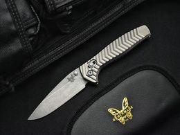Canada Haute Qualité BENCHMADE Edition Limitée AXIS 781 D2 Acier Poignée En Aluminium Couteau Pliable Poche de camping Couteaux De Chasse Survie EDC Outil Offre