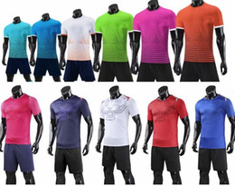 Leere fußball-uniformen online-personalisierte leere Soccer Jerseys-Sets, Benutzerdefinierte Team Soccer Jerseys Tops mit Shorts, Mode Training Running Jersey-Sets kurz, Fußballuniform