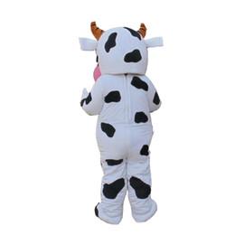 Costume della mascotte della mucca da latte online-Costume della mascotte del DAIRY COW Costumi del fumetto della mucca del fumetto di qualità superiore dell'adulto