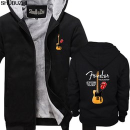 gitarre tele schwarz Rabatt Keith Richards Gitarre Black Guard Tele Micawber Hoodie Herren Winter Hoodies Modemarke mit Kapuze Tops sbz1311