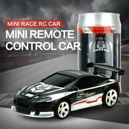 coque puede rc coche Rebajas 2017 Venta Caliente 1/58 Coke Can Mini Rc Radio de Coche Control Remoto Micro Racing Car 4 Frecuencias
