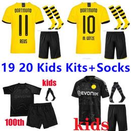 Jersey elite 24 online-SANCHO tailandesa Dortmund camiseta de fútbol de los niños los kits + calcetines 2019 2020 GOTZE REUS BRANDT Hummels BVB 19 20 Paco Alcácer 110a camisa de fútbol de élite