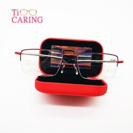 Messa a fuoco di frame online-Anti-blu-ray blocco progressivo multifocali occhiali da lettura pieghevole Lettori fuoco multiplo presbiopia montatura in metallo da +100 a +400