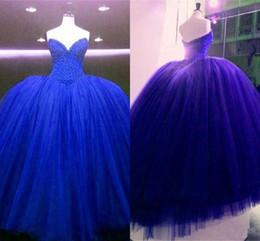 corset de robe de soirée pour filles Promotion 2019 Incroyable Robe De Quinceanera Bleu Royal Robes Pageant Robes 2019 Corset En Cristal Perlé Retour Robe De Bal Doux 16 15 Filles