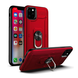 Iphone hüllen metallring online-Ring Car Mount magnetisches Metall Hybrid-Fall für iphone 12 11 Pro Max 6 6s 7 8 Plus Stoß- Abdeckung